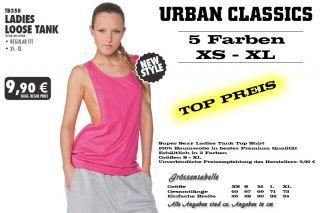 URBAN CLASSICS DAMEN LOOSE TANKTOP T SHIRT TOP SHIRT LADIES 5 FARBEN