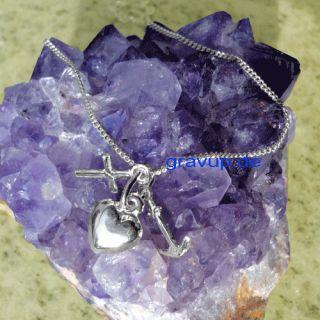 Anhänger Glaube,Liebe, Hoffnung + Kette Silber 925 a371