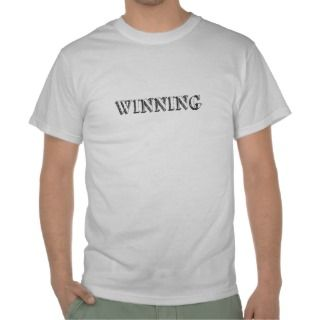 Charlie Sheen winning shirt