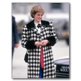 Princess Diana arrives for a skiing holiday Post Card