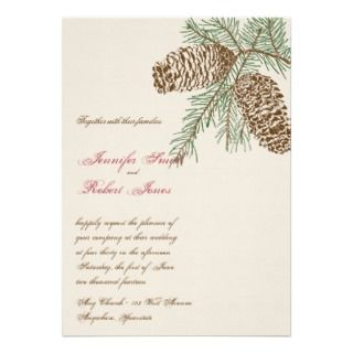 Pine Cone Nature Wedding Invitation