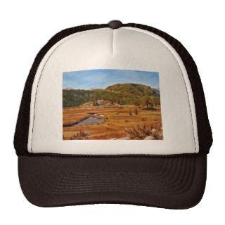 Estes Park Colorado Landscape Painting Trucker Hats