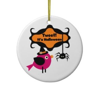 Tweet Halloween T shirts and Gifts Christmas Ornaments