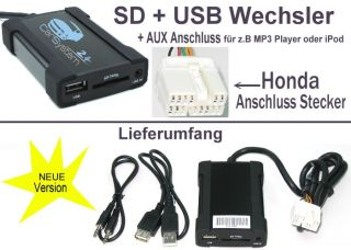 USB SD  Wechsler AUX Adapter Player HONDA Suzuki #8