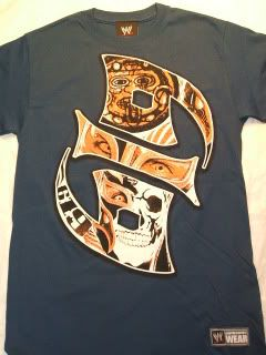 REY MYSTERIO Blue 619 Warrior T shirt WWE Authentic