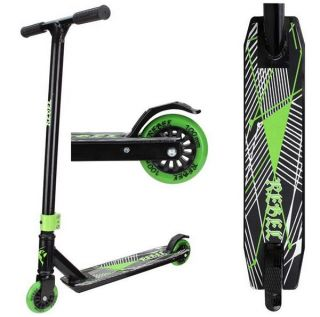 Stuntscooter Rebel Bullet Black Green Stunt Freestyle Scooter Roller