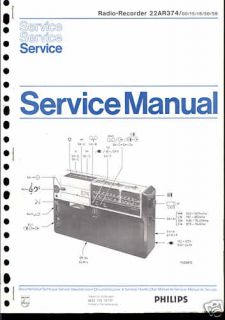 Philips Original Service Manual für 22 AR 374