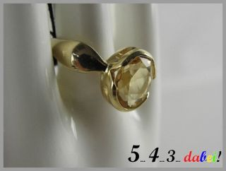 Scala Damen Ring Fingerring 375 er Gold Gelbgold mit Citrin Gr. 18