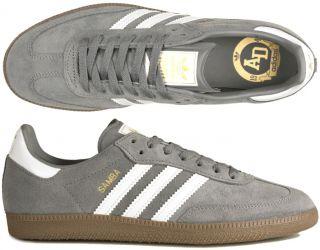 Adidas Schuhe Samba grey/white/gold gum grau weiß (Spezial, Gazelle