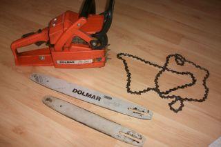 DOLMAR PS 390 Kettensäge, Motorsäge + 2 x dolmar schwert + 2 ketten