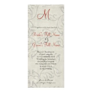 Impressionist Coral n Yellow Rose 2 Wedding Invite