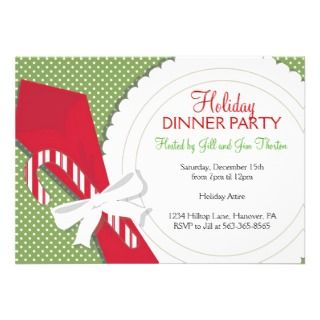 Christmas Dinner Party Invitations