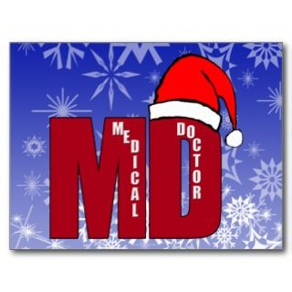 CHRISTMAS SANTA MD   MEDICAL DOCTOR POST CARDS