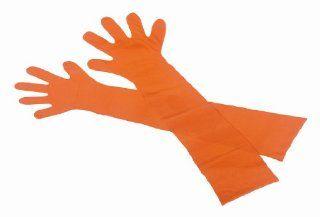 Extra lange Veterinärhandschuhe   Gr. L   orange   90 cm   1 Beutel
