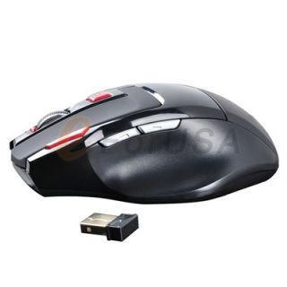4GHz High Speed Wirless Gaming Optical Mouse Ergonomic for Laptop PC