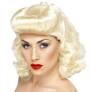Retro Perücke Pin Up Girl blond (Pin Up/Filmstar/Vierziger)
