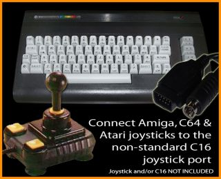 COMMODORE C16 TO AMIGA OR ATARI JOYSTICK ADAPTER CABLE