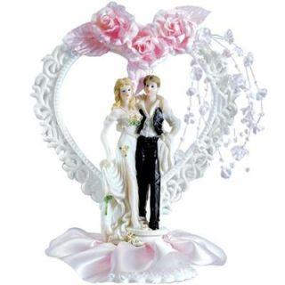Tortenfigur Brautpaar Herz Hochzeit Tortendeko Tortenaufsteller Torte
