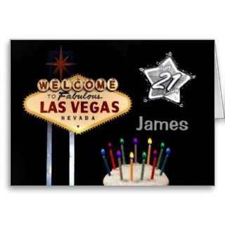 Las Vegas 21st Birthday Card