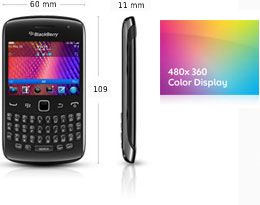 BlackBerry Curve 9360 Smartphone (6,2 cm (2,4 Zoll) Display, 5