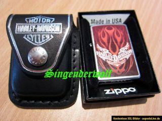 Original ZIPPO Feuerzeug NEU unbenutzt, Harley Davidson & Tasche