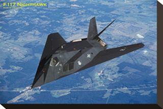 Airplane F 117 Nighthawk Stretched Canvas Print