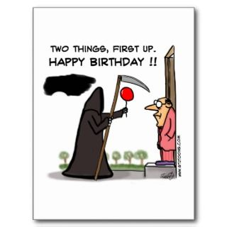Funny Male Birthday Card   Middle Age
