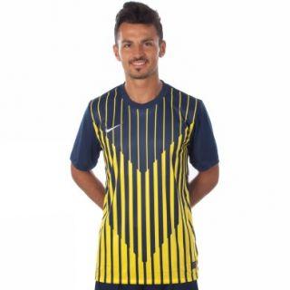 Nike Ss Precision Gd Jsy L Dunkelblau Kurzarm T shirts Herren Fussball