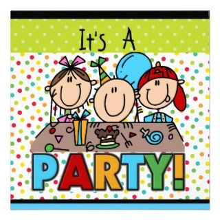 kids birthday party invitations with your name and party information