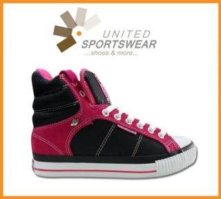BK British Knights Schuhe Sneaker Atoll Black Schwarz Fuchsia UVP 54