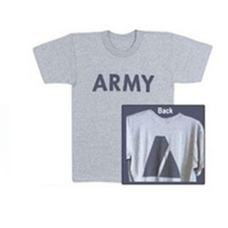 US ARMY PT Shirt PFT Tshirt Large