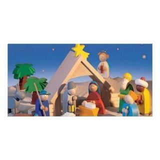 Christmas Manger Scene Photo Cards