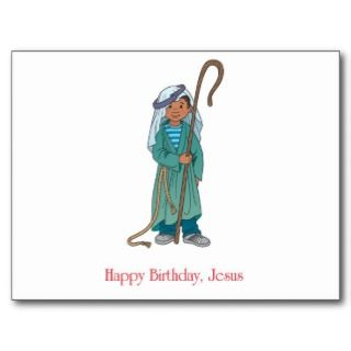 RELIGIOUS Happy Birthday Jesus Shepherd Postcard