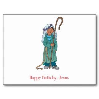 RELIGIOUS Happy Birthday Jesus Shepherd Postcard