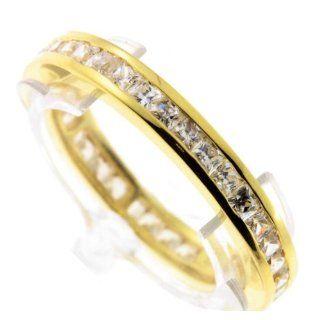 Damen Ring echt Gold 333 7149 Zirkonia Memoir Weite 57