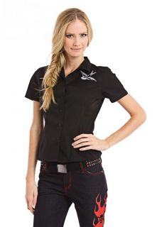 Beauty Fiend   Sparrows Work Shirt   Rockabilly   Emily the Strange