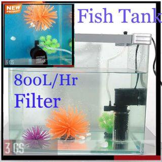 Oxygen Adding Water Clean Quiet 800 L/H Aquarium Fish Tank Internal