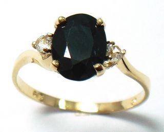 416er Gold Ring mit Saphir und Topas