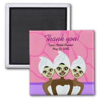 African American Baby Shower Magnets, African American Baby Shower