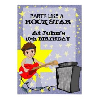 party like a rock star birthday party invitation for boys can be