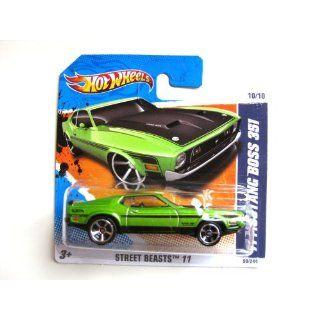 Hot Wheels Ford Mustang Boss 351 grün 1971 164 Spielzeug
