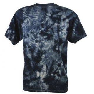 Tie Dye Festival Black Scrunch T Shirt Batik Bekleidung
