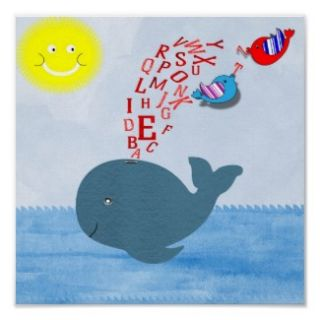 Cute Blue Whale Birds Sunshine Kids Party Invites