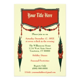 Surprise Party! Elegant Art Deco Party Invitations