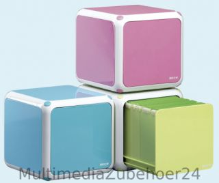 CD Box zur Aufbewahrung von 60 CDs/DVDs oder Blu Ray blau Box CD Regal
