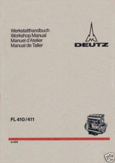 Werkstatthandbuch Deutz Diesel Motor F2L 411 .