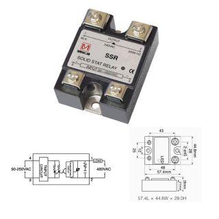 SSR Solid State Relais Halbleiterrelais 100A 24 480VAC