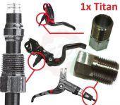 Titan Überwurfmutter Bremsleitung M8x0,75 Magura Avid Elixir Formula