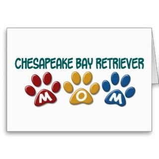 CHESAPEAKE BAY RETRIEVER Mom Paw Print 1 Card