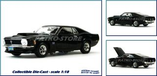 FORD MUSTANG BOSS 429   1970   black   Motor Max 118